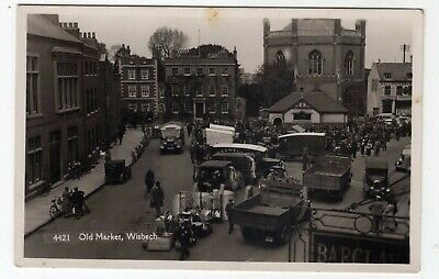 Cambridgeshire, Wisbech, The Old Market, Vehicles, Rp • 14£