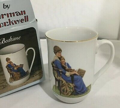 $ CDN25.09 • Buy Vintage 1982 Norman Rockwell Museum BEDTIME Collectable Coffee Cup Mug Authentic