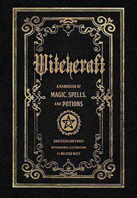 Witchcraft: A Handbook Of Magic Spells And Potions (Magic Ser New Hardcover Book • 11.18£