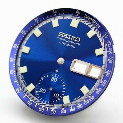 $ CDN62.19 • Buy New Dial For Vintage SEIKO Chronograph 6139-6012 6010 6011 Blue With Dial Ring