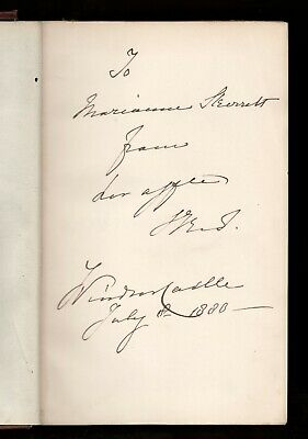 £576.33 • Buy 1880 Book SIGNED By QUEEN VICTORIA --- Her Inscription Mentions WINDSOR CASTLE