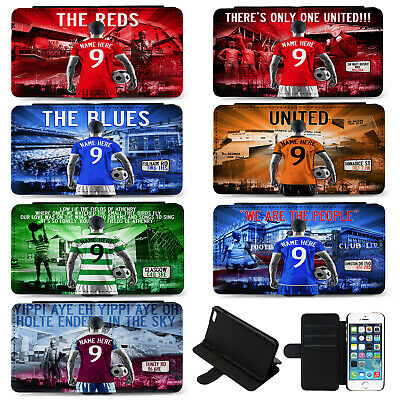 Football IPhone 6 7 Plus Phone Case Flip Cover Mens Personalised Gift AF • 12.95£