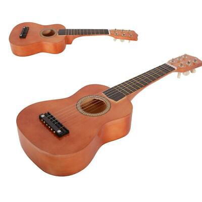 21  Acoustic Guitar Coffee Color With String Pick For Children Kids • 11.99£