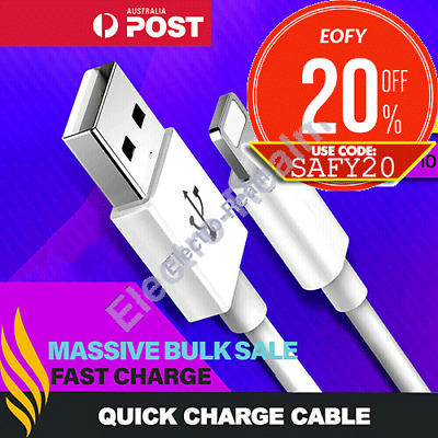 AU7.95 • Buy Fast Charger Cable Cord Quick Charge Lead 2M 3M For IPhone 11 Pro Max X 8 7 IPad