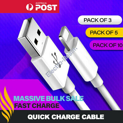 AU5.95 • Buy Fast Charger Cable Cord USB Charging Cable Quick Charge Lead 1M 2M 3M For IPhone