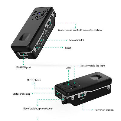 $64.11 • Buy Small Hidden Audio Video Recorder Spy Camera For Covert Operations