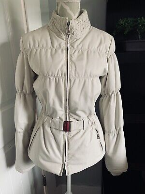 $ CDN125 • Buy DANIER White Leather Quilted Goose Down Jacket Sz XS