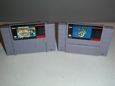 $ CDN59.99 • Buy Super Mario World & Super Mario All-Stars SNES Game Lot Super Nintendo Games