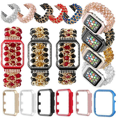 $ CDN11.03 • Buy For Apple Watch Series 4 321 Jewelry Bead Jewelry Bracelet Strap Band Bling Case