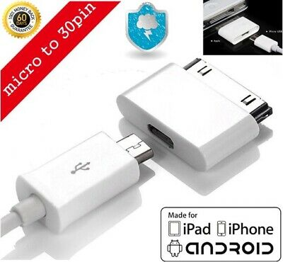£4.60 • Buy Micro USB Female To 30pin Male Charger Adapter For IPad/iPod/iPhone 4 S