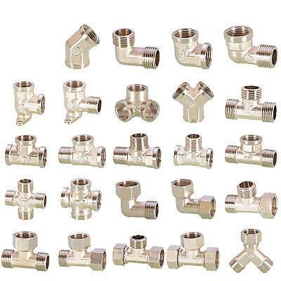 AU5.29 • Buy Hydraulic Fitting Male&Female BSP Fitting Union Elbow Tee 1/2 For Air,Wate&Fuel