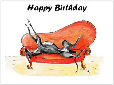 £3.99 • Buy Birthday Card Greyhound Whippet Lurcher Italian Cards Gift - CUSTOM TEXT - Gifts