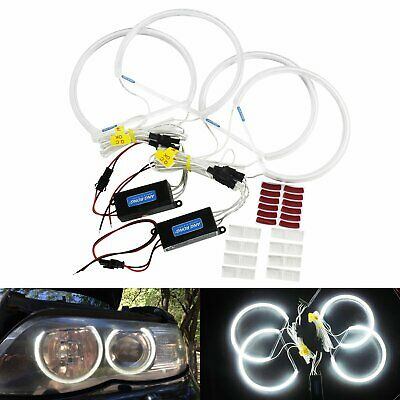BMW E46 3 Series Angel Eyes Light CCFL Halo Rings Non-Projector Lamps White New • 18.80£