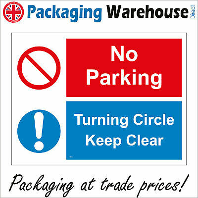 £2.95 • Buy Tr274 No Parking Turning Circle Keep Clear Do Not Park Here Access Required Sign