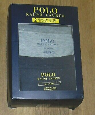 £34.99 • Buy Polo Ralph Lauren Mens Navy/ Grey 2 Pack Logo T Shirts Size UK Med, Athletic Fit