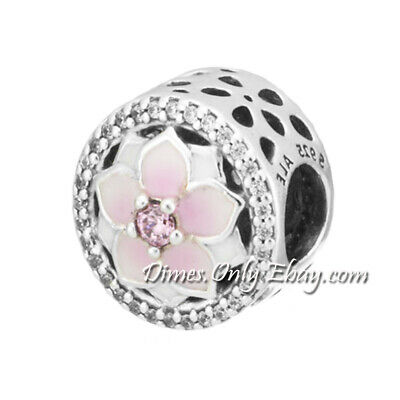 $32.99 • Buy Authentic Pandora Magnolia Bloom 792085PCZ Sterling Silver Charm