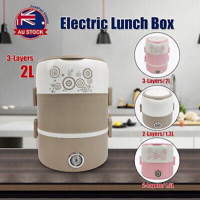 AU29.99 • Buy Portable 1.3 / 2L Electric Lunch Box Rice Cooker Warmer Food Steamer Container