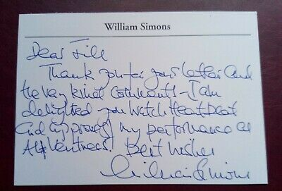 Heartbeat - William Simons Signed Card • 12.99£