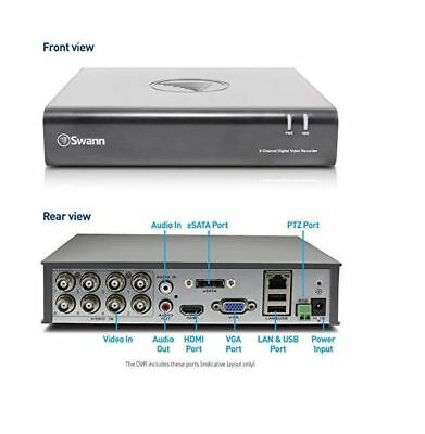 AU308.27 • Buy Swann DVR8 4600 8 Channel HD Digital Video Recorder DVR 1TB HDD CCTV HDMI VGA