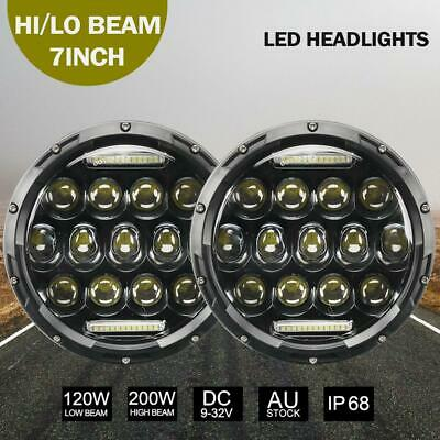 AU68.99 • Buy 2Pcs 7 Inch 200W Round LED Replacement Headlights For Land Rover Defender 90&110