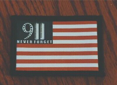 $7.99 • Buy 9-11 USA Flag Morale Patch Tactical Army Tactical Military Never Forget