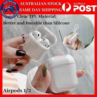 AU6.99 • Buy Shockproof For Apple Airpods Airpod Case Cover Clear Transparent Skin TPU Holder