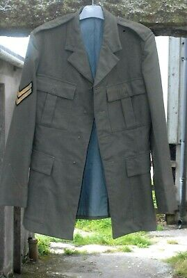 ROYAL MARINES JACKET LOVAT No1 SIZE 27 H:5'9 -5'10 ,CHEST 38  W:33  COLLECTORS • 12£