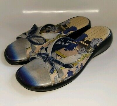 Icon Backless Summer Sandals Leather Size 6 Japanese Art • 32.55£