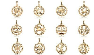 New 9CT Gold Filled Zodiac Star Sign Pendant Constellation Necklace B562 • 14.99£