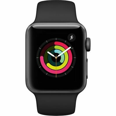 $ CDN378.94 • Buy Apple Watch Series 3 38mm Space Gray Aluminum Case Black Sport Band (MTF02LL/A)