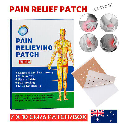AU15.95 • Buy Pain Relief Patches 7x10cm Arthritis Muscle Aches Menthol Cool Relieving Patch