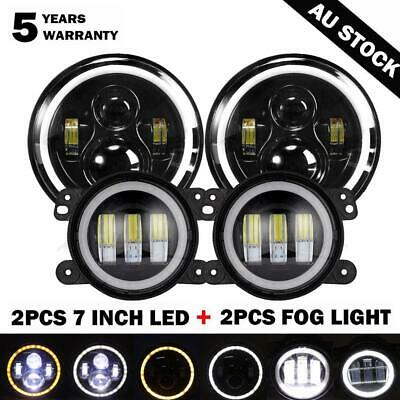 AU118.34 • Buy 2x7  LED Headlight Signal Turn Light+4  Fog Lamp Kit For Jeep Wrangler JK 07-17