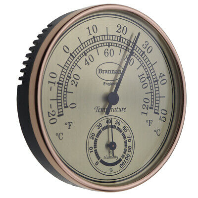 Gilt Dial Thermometer And Hygrometer - 30/407/3 • 9.25£