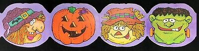$ CDN25.07 • Buy Vintage HALLOWEEN Die Cut Paper Decorations LOT Frankenstein Witch Scarecrow
