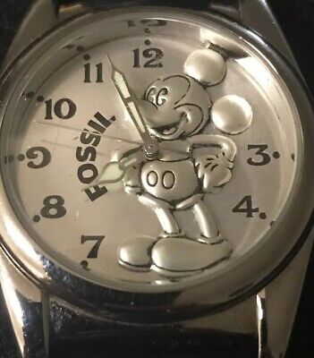 $54.99 • Buy DISNEY FOSSIL MICKEY MOUSE WATCH RARE!Limited Edition 5000. New Battery!!