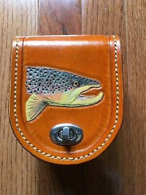 $290 • Buy Tooled Leather Fly Reel Case With Fleece Lining