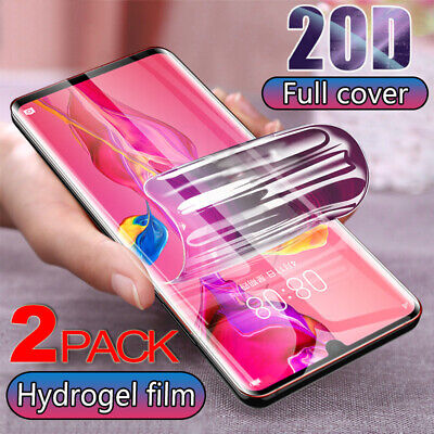 Clear Soft Screen Protector Hydrogel Film For Huawei Mate 20 Pro P20 Lite P30 • 3.39£