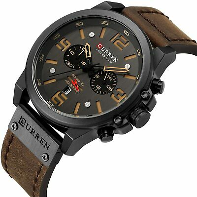 $24.99 • Buy CURREN Military Men's Watch Sport Chronograph Leather Infantry Reloj Para Hombre