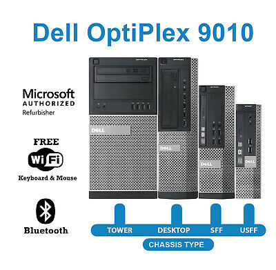 $ CDN369.99 • Buy Dell 9010 Desktop Computer 16GB RAM 2TB HDD 480GB SSD Quad Core I5 Win10 PC WiFi