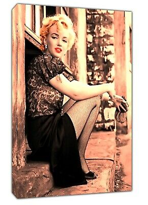 Beautiful Marilyn Monroe Photo Picture Print On Framed Canvas Wall Art  Decor • 9.49£