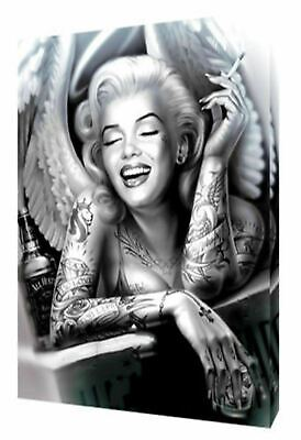 Marilyn Monroe  Angel Print On Framed Canvas Wall Art Home Decoration Picture • 9.49£