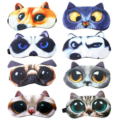 AU8.58 • Buy 3D Animal Funny Eye Mask Soft Sponge Padded Travel Sleeping Blindfold Sleep Aid