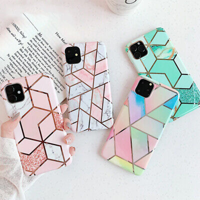 Case For IPhone 11 XR XS MAX 8 7 6 Plus ShockProof Marble Phone Cover Silicone • 3.99£