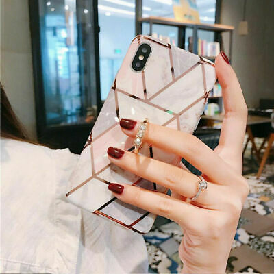AU8.46 • Buy For IPhone 11 Pro Max 8 7 XR Marble Glitter Case With Diamond Ring Stand Holder
