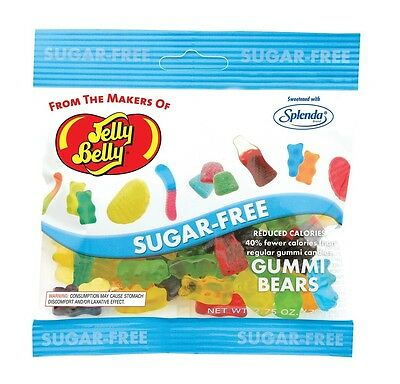 $12.60 • Buy SUGAR FREE GUMMI BEARS  - Jelly Belly Candy Jelly Beans - 2.8 Oz BAG - 2 PACK