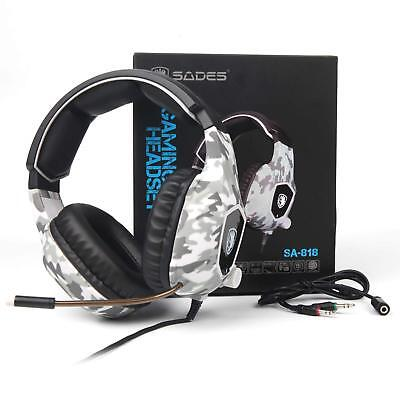 AU35.99 • Buy Sades 3.5mm Gaming Headset Headphone Mic Stereo Surround For PC Mac PS4 XBOX ONE