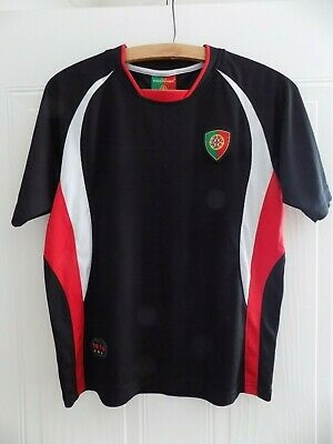 Rare Retro 2010 Forca Portugal Football Soccer Jersey Shirt Camiseta Black Top • 24.99£
