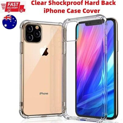 AU5.02 • Buy Clear Shockproof Hard Back Case Cover IPhone 12 11 Pro XS Max XR X 6 7 8 SE Plus