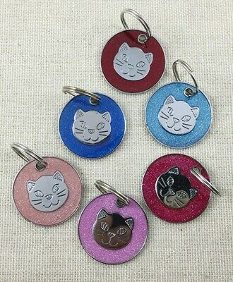 Personalised ENGRAVING Cat ID Kitten Identity Name Tag Puppy Pet ID Tags  • 2.49£