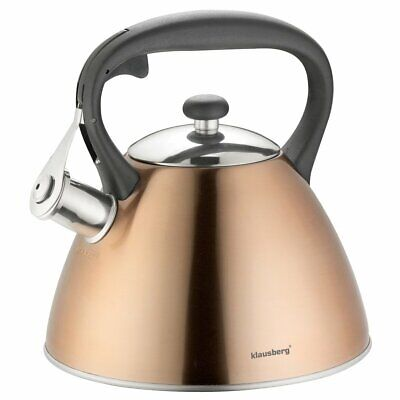 KLAUSBERG 7209 Whistling Kettle 3 L Stainless Steel Copper Induction / STOVE TOP • 22.99£